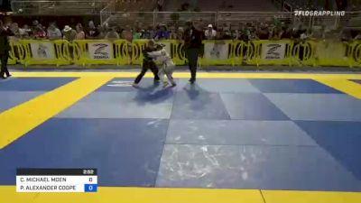 CLAYTON MICHAEL MOEN vs PERSEUS ALEXANDER COOPERMAN 2021 Pan Kids Jiu-Jitsu IBJJF Championship