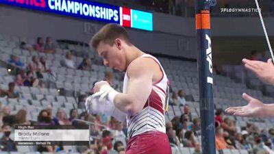 Brody Malone - High Bar, Stanford Univ - 2021 US Championships Senior Competition International Broadcast