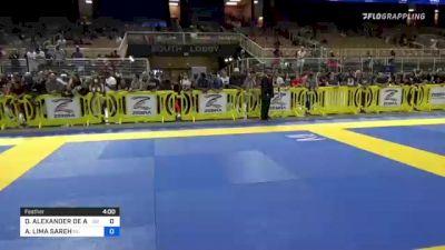 DANYEL ALEXANDER DE ASSIS vs ANDREW LIMA SAREH 2021 Pan Kids Jiu-Jitsu IBJJF Championship