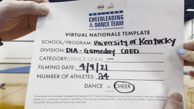 University of Kentucky-Cheer - University of Kentucky [Virtual Division IA Game Day - Cheer Finals] 2021 UCA & UDA College Cheerleading & Dance Team National Championship