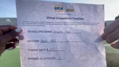 Anclote High School [Small Coed] 2021 UCA January Virtual Challenge