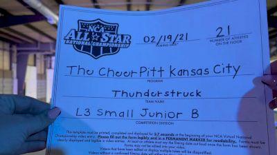The Cheer Pitt KC - Thunderstruck [L3 Junior - Small - B] 2021 NCA All-Star Virtual National Championship