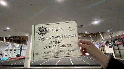 Vegas Empire Athletics - Rampage [L3 Youth - D2 - Small] 2021 NCA All-Star Virtual National Championship