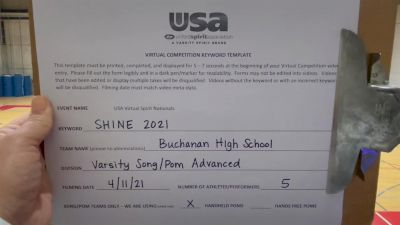Buchanan High School [Varsity - Song/Pom - Advanced] USA Spirit & Dance Virtual National Championships