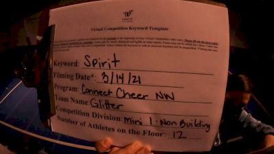 Connect Cheer Northwest - Glitter [L1 - Mini - Non-Building] 2021 PacWest Virtual Championship