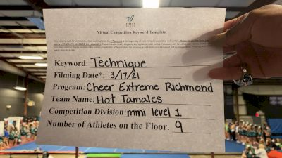 Cheer Extreme - Richmond - Hot Tamales [L1 Mini] 2021 Varsity All Star Winter Virtual Competition Series: Event IV