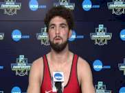 Sammy Sasso (Ohio State) after 149-pound semifinal win at 2021 NCAA Championships
