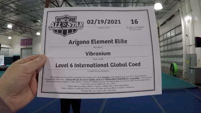 Arizona Element Elite - Vibranium [L6 International Global Coed] 2021 NCA All-Star Virtual National Championship