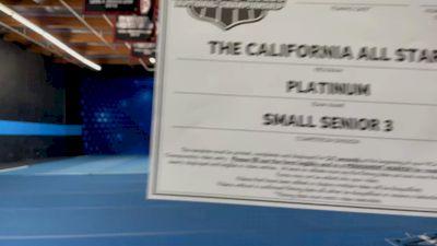 The California All Stars - Platinum [L3 Senior - Small - A] 2021 NCA All-Star Virtual National Championship