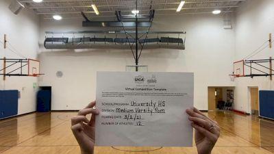 University High School [Medium Varsity - Pom] 2021 UDA West Spring Virtual Dance Challenge