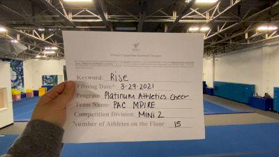 Platinum Athletics - PAC Mpire [L2 Mini] 2021 The Regional Summit Virtual Championships