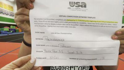 CheerForce Arizona - Passion [L1.1 Youth - PREP] 2021 USA All Star Virtual Championships