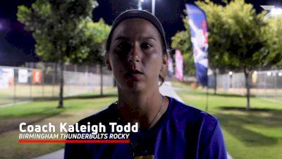 Coach Kaleigh Todd, Birmingham Thunderbolts Rocky vs Georgia Impact Caymol Recap At 2021 PGF 16U