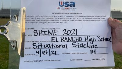 El Rancho High School [High School - High School Situational Sideline/Crowdleading Cheer] 2021 USA Spirit & Dance Virtual National Championships
