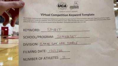 Somerset High School [Game Day Varsity - Non-Tumble] 2020 UCA Milwaukee Virtual Regional