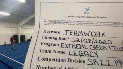 Extreme Cheer & Tumble - Legacy [Level 2.2 L2.2 Senior - PREP] Varsity All Star Virtual Competition Series: Event VII