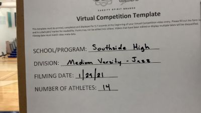 Southside High School [Medium Varsity Jazz] 2021 UDA South Spring Virtual Dance Challenge