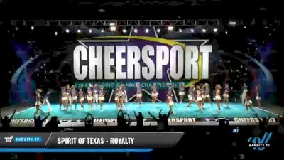 Spirit of Texas - Royalty [2021 L6 Senior Coed - Medium Day 2] 2021 CHEERSPORT National Cheerleading Championship