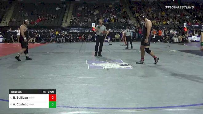 285 lbs Consolation - Ben Sullivan, Army West Point vs Aaron Costello, Iowa
