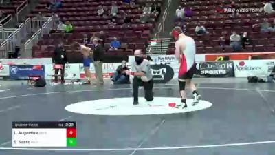 172 lbs Quarterfinal - Luca Augustine, Waynesburg vs Sonny Sasso, Nazareth