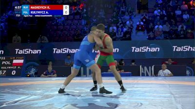 87 kg 1/8 Final - Kiryl Maskevich, Belarus vs Arkadiusz Kulynycz, Poland