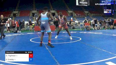 220 lbs Cons 16 #2 - Daishawn Tilghman, Pennsylvania vs Dorian Crosby, Pennsylvania