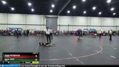 50 lbs Round 2 - John Petrovcik, Florida vs Boaz Diaz, Iowa