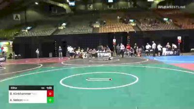 69 lbs 2nd Place - Bentley Klinkhammer, Thorn Trained vs Ashton Nelson, Yankton Jr Bucks