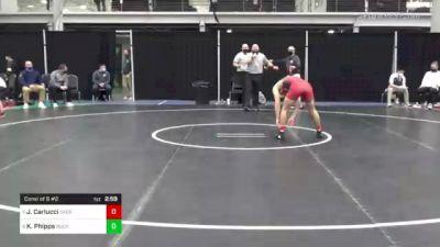 141 lbs Consi Of 8 #2 - Jordan Carlucci, Sacred Heart vs Kurt Phipps, Bucknell