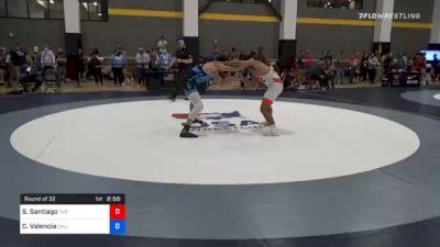 74 kg Prelims - Sonny Santiago, Tar Heel Wrestling Club vs Cael Valencia, California