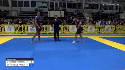 JOÃO MÁRCIO FERREIRA DOS SANTOS vs WILLIAM MATHEUS PADILHA MACIEL 2021 Pan IBJJF Jiu-Jitsu No-Gi Championship