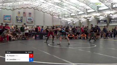 70 kg Round Of 16 - Ke-Shawn Hayes, Ohio State-Unattached vs Boo Lewallen, Cowboy RTC/TMWC