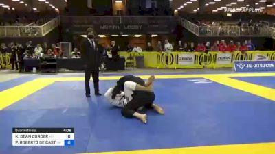 KELLY DEAN CORDER vs PAULO ROBERTO DE CASTRO 2021 Pan Jiu-Jitsu IBJJF Championship