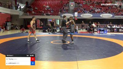 67 lbs Rr Rnd 1 - Hayden Tuma, Army (WCAP) vs Jamel Johnson, Marines