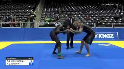 ANDREW S NORMINGTON vs TIMOTHY Q. GOODWIN 2021 World IBJJF Jiu-Jitsu No-Gi Championship