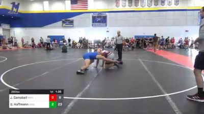 285 lbs 7th Place - James Campbell, Ares Wrestling Club vs Gunner Hoffmann, Crass Trained