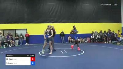 97 kg Rr Rnd 1 - Tereus Henry, Unaffiliated vs Matthew Dean, River Valley Wrestling Club