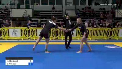 Maria Malyjasiak vs Elisabeth Ann Clay 2021 Pan IBJJF Jiu-Jitsu No-Gi Championship