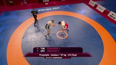 97 kg Semifinal - Suleyman KARADENIZ, TUR vs Elizbar ODIKADZE, GEO
