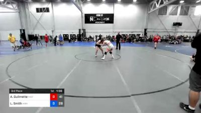 155 lbs 3rd Place - Araya Guilmette, Misfits Live Wire vs Loralei Smith, Midwest Black Mambas Team 2