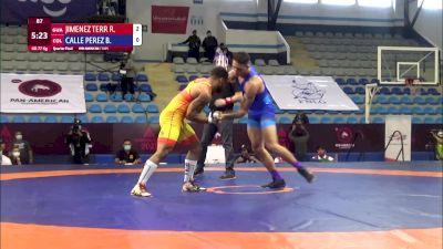 77 kg Qualif. - Reinier Jimenez Terry, Guatalema vs Brandon Calle Perez, Columbia