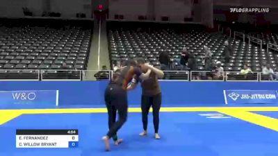 ESTELA FERNANDEZ vs CAMERON WILLOW BRYANT 2021 World IBJJF Jiu-Jitsu No-Gi Championship