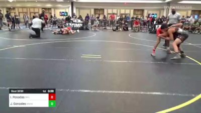109 lbs Consi Of 16 #1 - Isaiah Posadas, Driller WC vs Julio Gonzales, Mohave WC