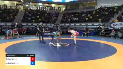 65 kg Semifinal - Chance Lamer, Mat Sense Wrestling vs Joshua Edmond, Tiger Style Wrestling Club