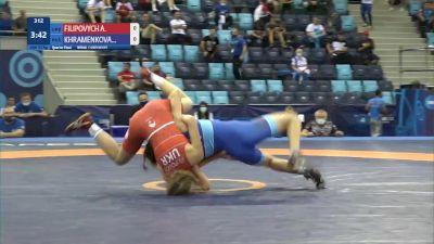 53 kg 1/4 Final - Alina Filipovych, Ukraine vs Natalia Khramenkova, Russia