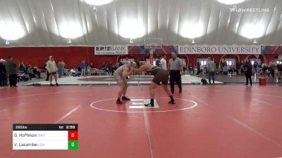 285 lbs Quarterfinal - Gavin Hoffman, Ohio State vs Victor Lacombe, Lehigh