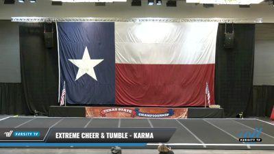 Extreme Cheer & Tumble - Karma [2021 L4 Senior Coed Day 1] 2021 ACP Power Dance Nationals & TX State Championship