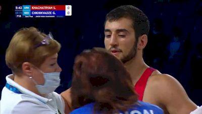 72 kg Semifinal - Shant Khachatryan, Armenia vs Giorgi Chkhikvadze, Georgia