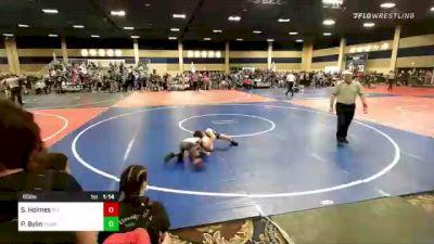 65 lbs Semifinal - Shion Holmes, Stl Warriors/ Fight Club vs Paxton Bylin, Team Aggression