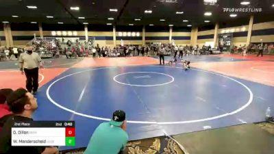 65 lbs 5th Place - Paxton Bylin, Team Aggression vs Rylan Zinkin, Dethrone